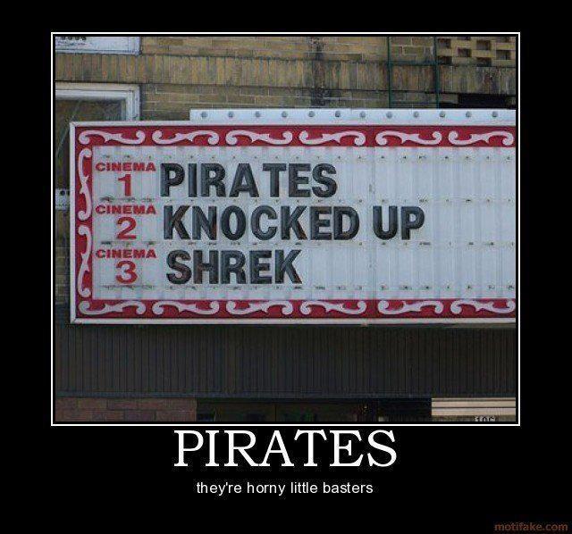 Pirates Knocked up Shrek