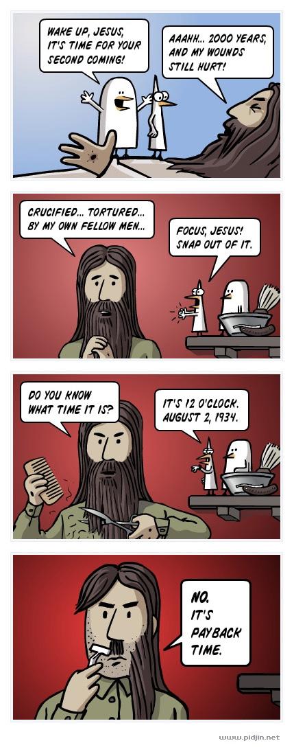 Jesus gets payback