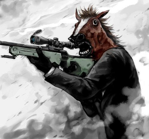 Sniper horse