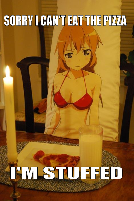Dakimakura stuffed pizza