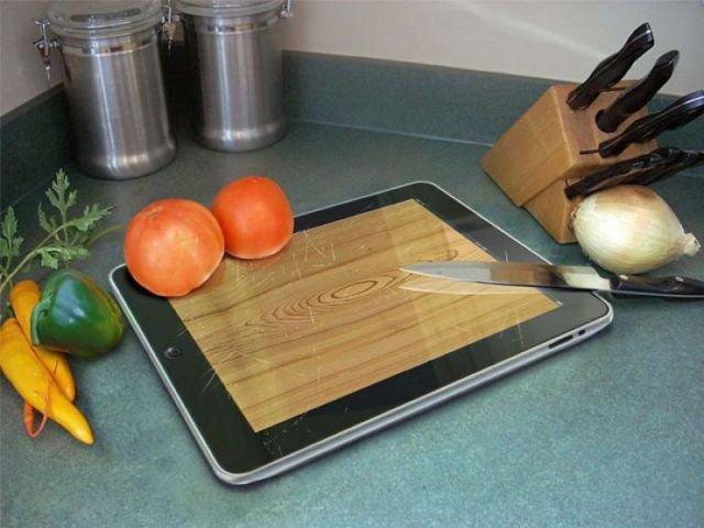 iPad's cutting board app