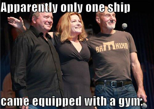 Apparently only one ship came equipped with a gym