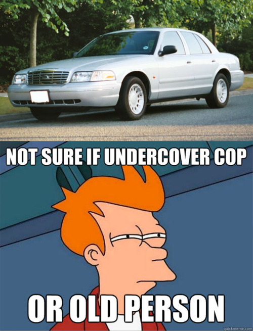 Not sure if undercover cop or old person
