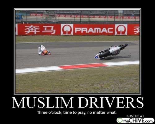 Muslim bike driver
