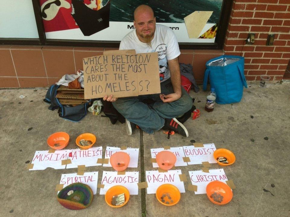Homeless religion