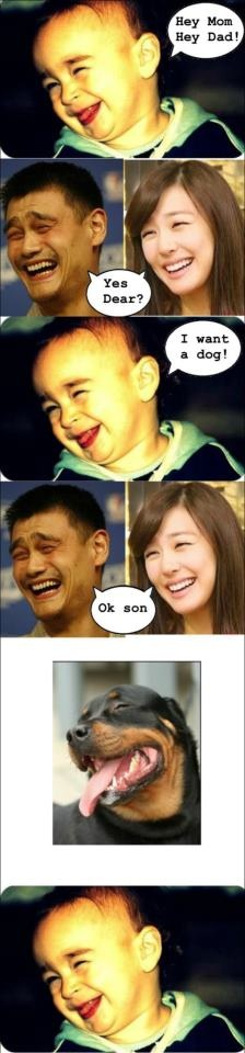 Tiffany Yao Ming meme