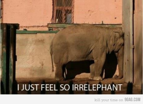 I feel so irrelephant