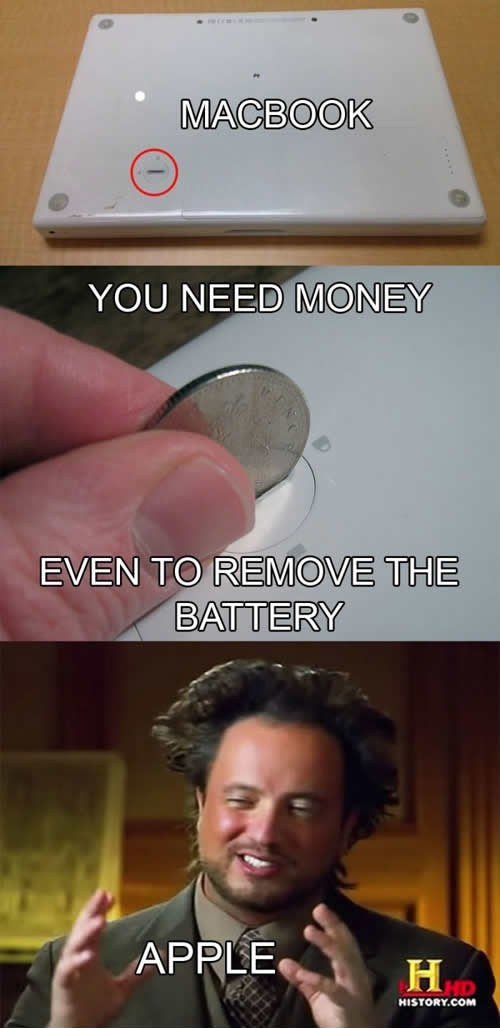 You need money even to remove the battery