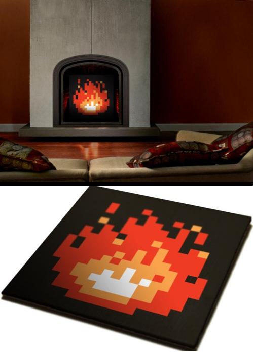 8 bit fireplace