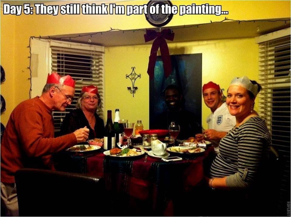 They still think I'm part of the painting