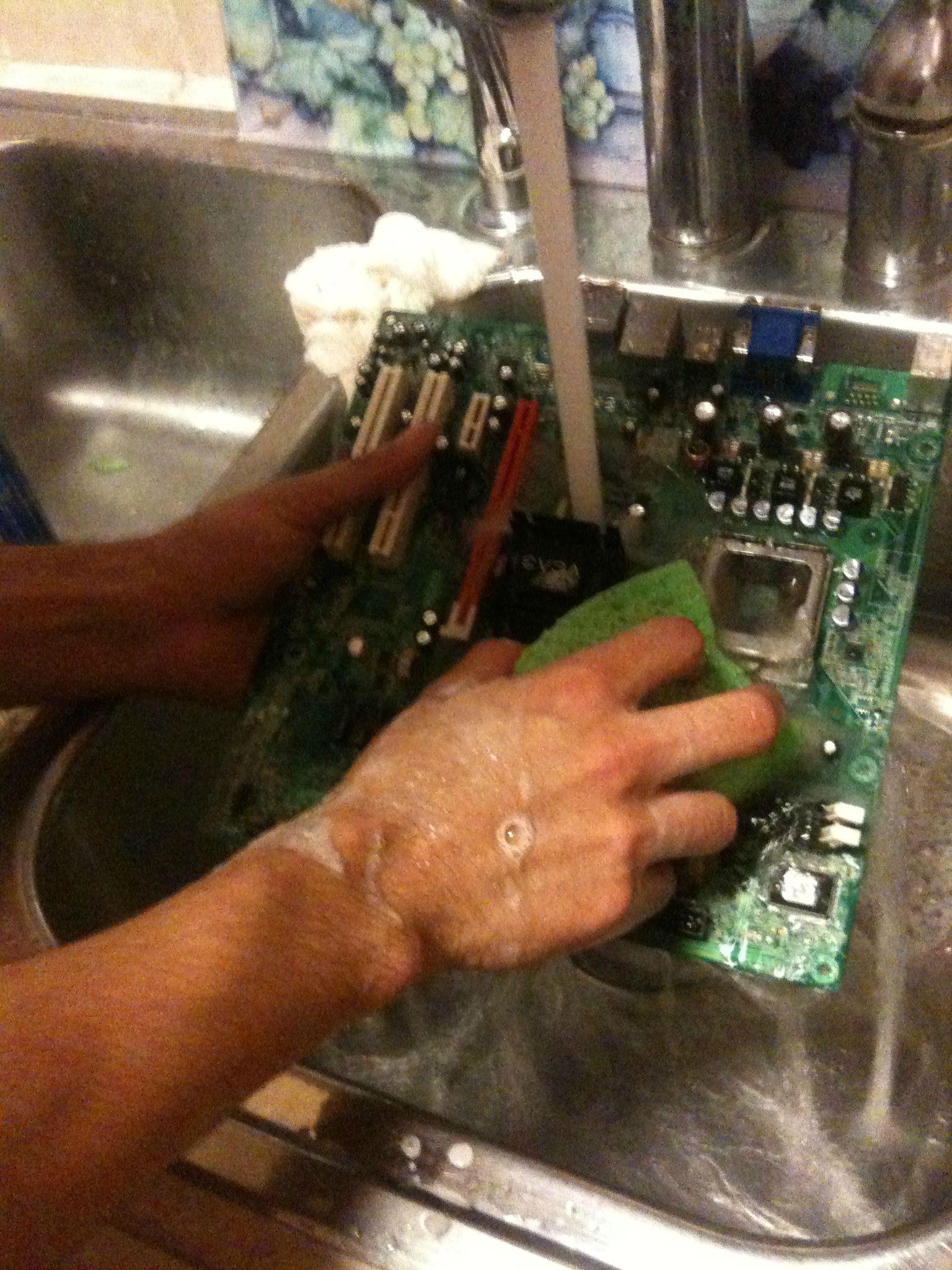 Clean motherboard