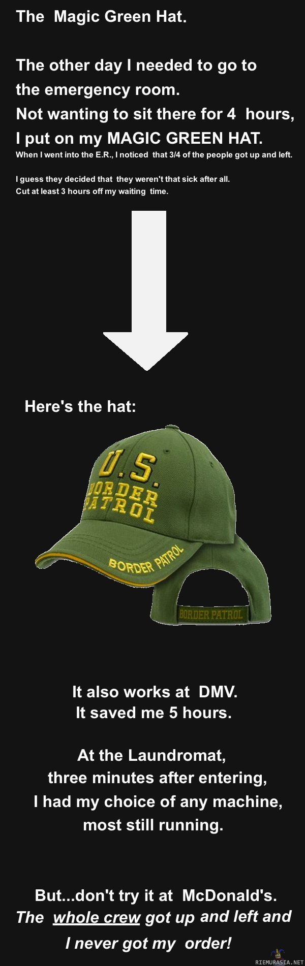 Magic US border patrol hat