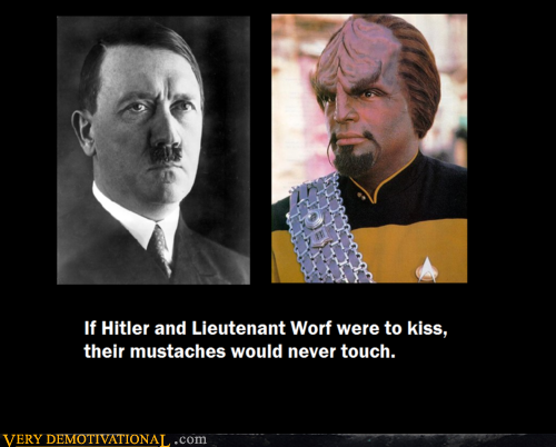 Hitler and lieutenant Worf