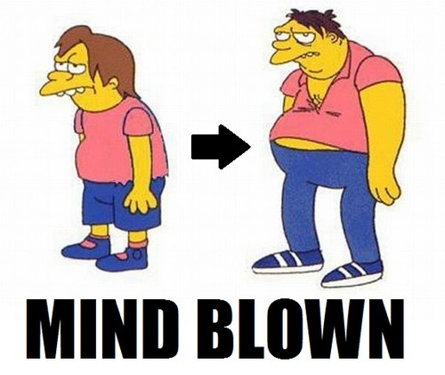 Nelson Barney Simpsons mind blown