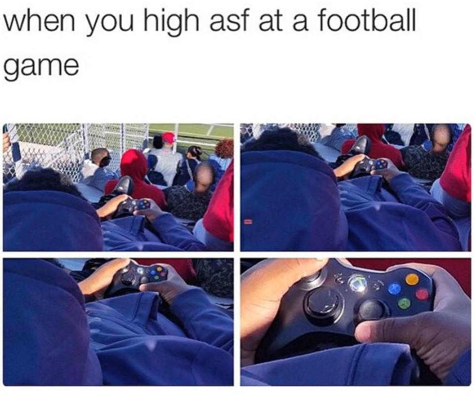 So high at a football game