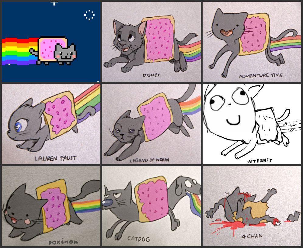 Nyan cat versions