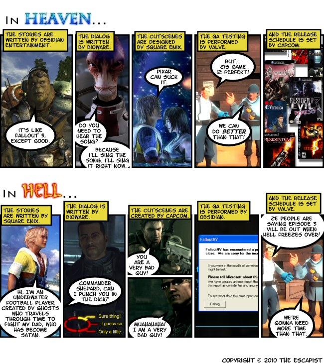 Videogame heaven vs hell