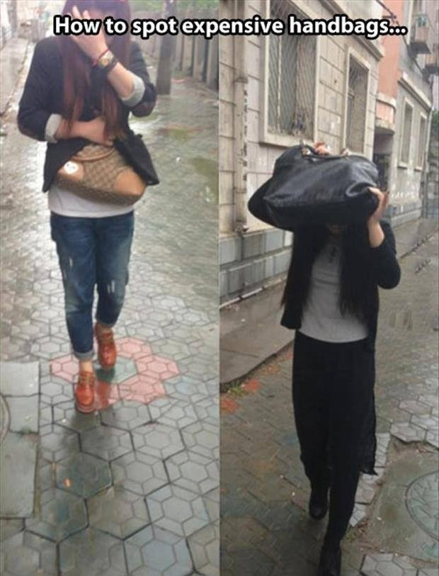 How to spot expensive handbags