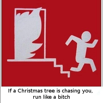 lf a Christmas tree is chasing you, run like a bitch