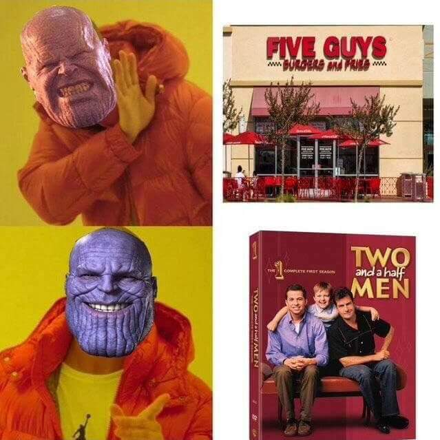 Thanos five guys