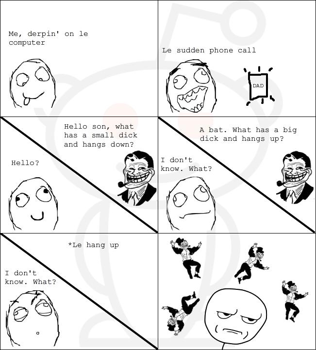 Rage comics troll dad