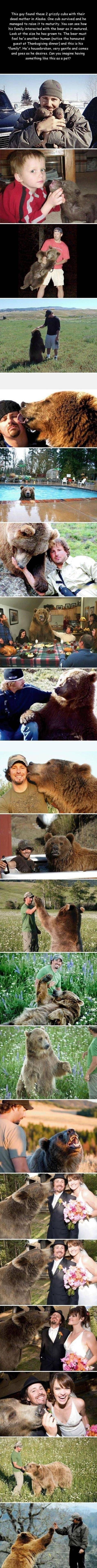 Man raises bear