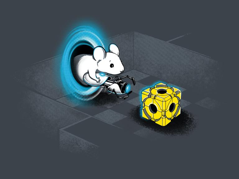 Portal gun mouse