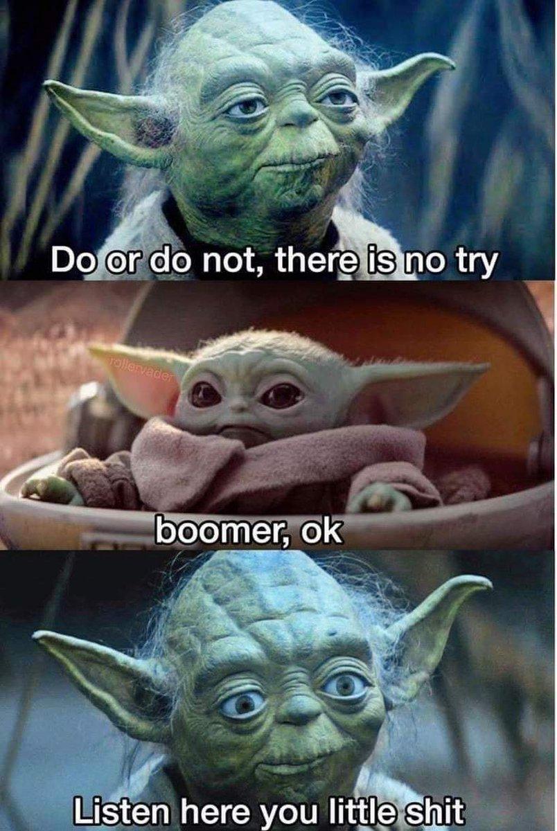 Baby Yoda ok boomer