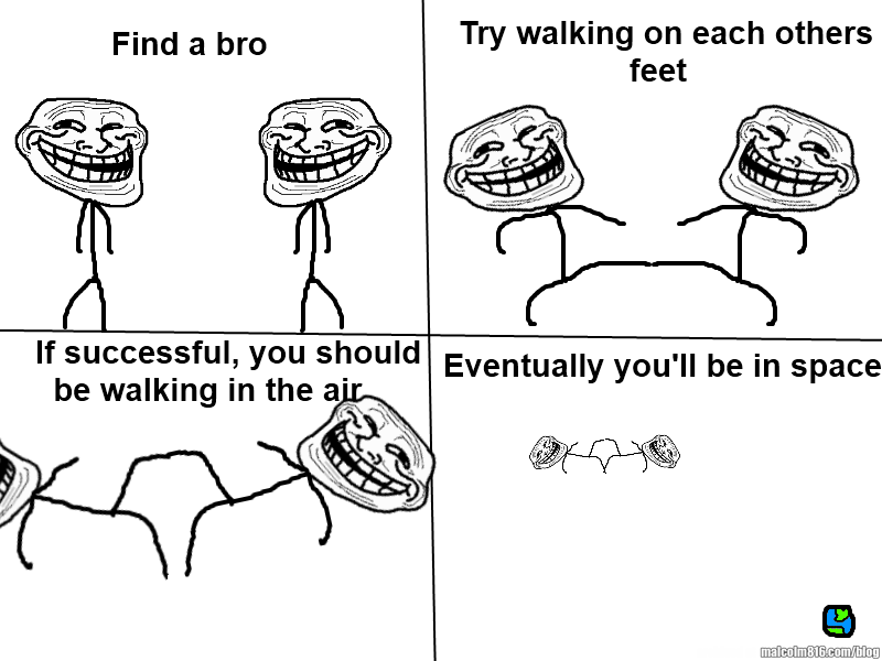Troll physics walking