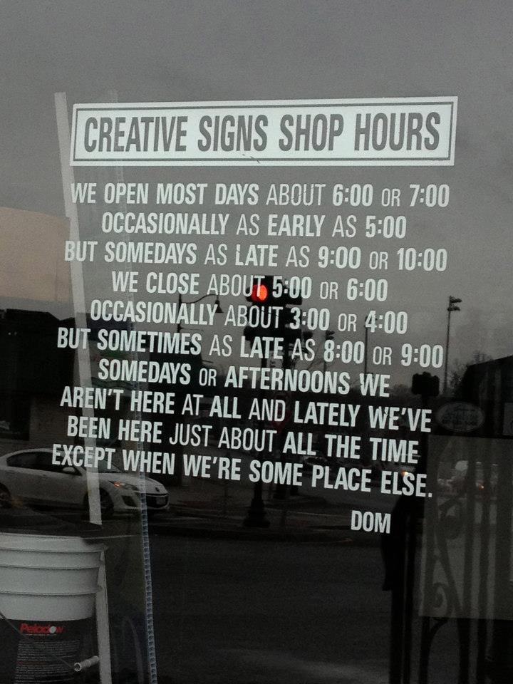 Honest shop hours