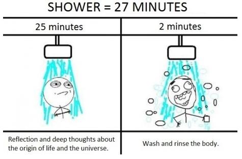 Shower 27 minutes